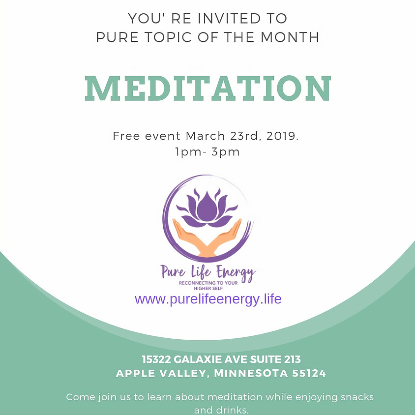 Pure Topic of the Month: Meditation
