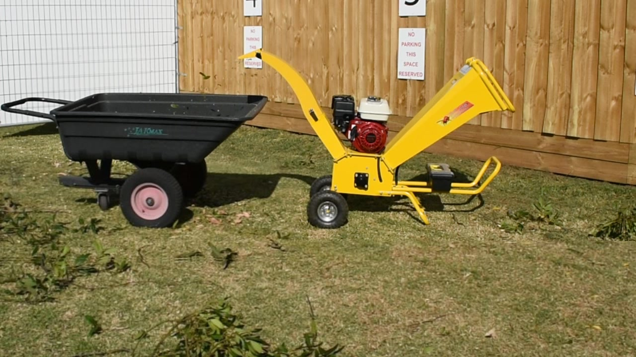 gbk-65-1 6.5 hp petrol engine wood chipper-shredder branch chipper