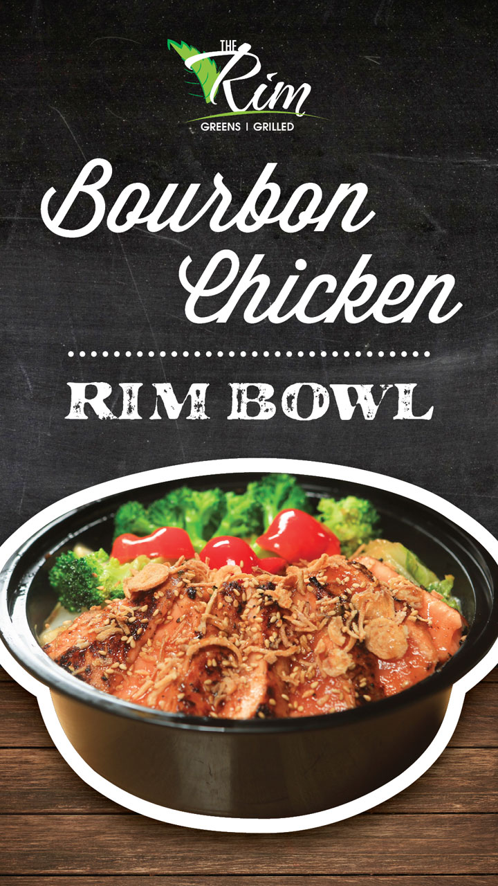 Bourbon Chicken Rim Bowl