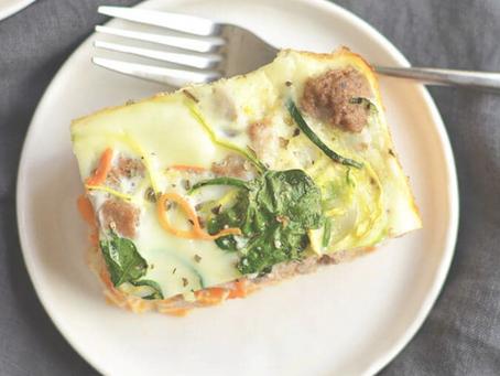Spiralized Veggie Breakfast Casserole