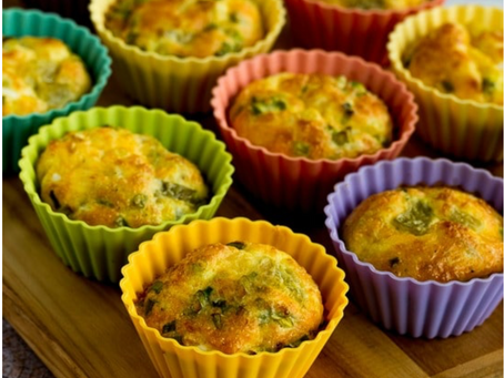 Green Chili and Chicken Egg Muffins