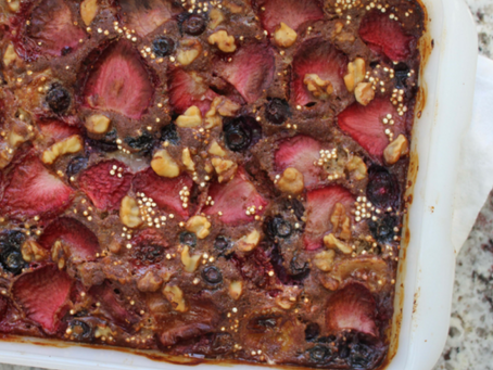 QUINOA BERRY BREAKFAST BAKE = AWESOME!