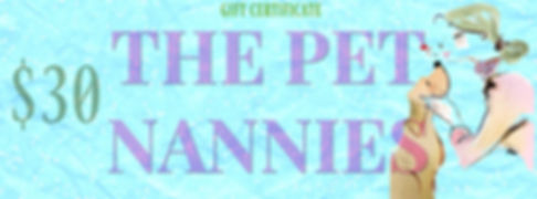Best Christmas present = The Pet Nannies Ltd Gift Vouchers
