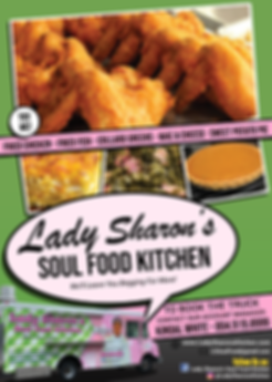 Lady Sharon's Soul Food Kitchen flyer (p