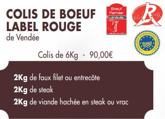 COLIS DE BOEUF LABEL ROUGE (6kg)