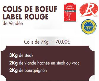 COLIS DE BOEUF LABEL ROUGE (7kg)
