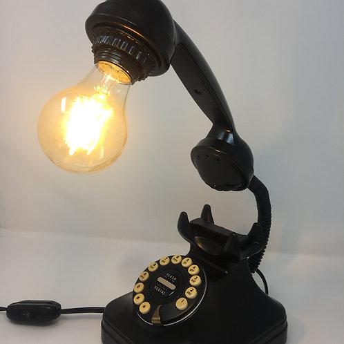 Black Retro Phone Lamp