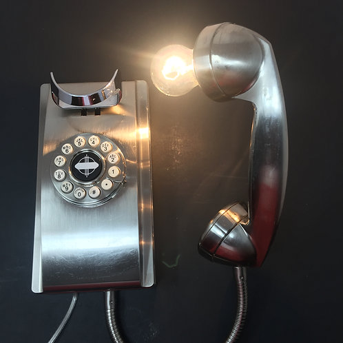 Silver Phone Wall Sconce