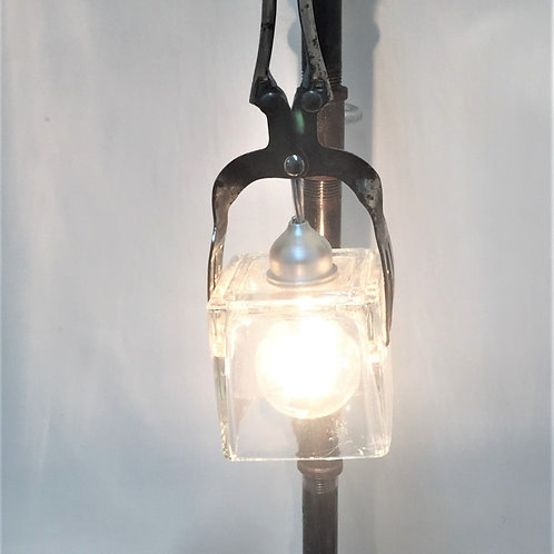 Antique Tongs & Ice Cube Lamp