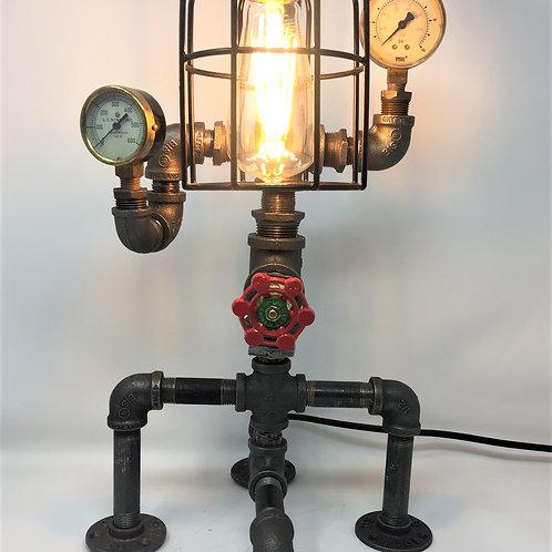 Steampunk  2-Gauge 4-Leg Lamp