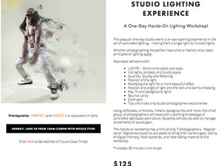 Studio Lighting Experience with Nicole Tyler