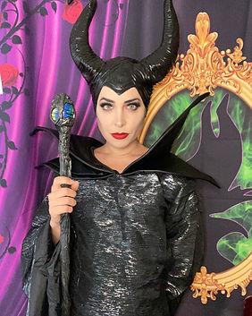 Maleficent party character performer for Sleeping Beauty party, Halloween Party, Disney Villains Party