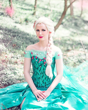 Spring Fever Elsa Snow Queen Frozen Disney Princess Party Character Performer