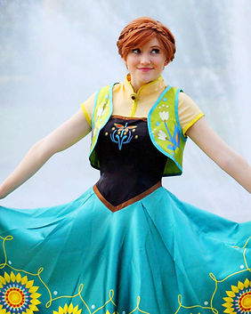 Spring Fever Anna Ice Princess Frozen Disney Princess Party Character Performer