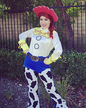 Jessie Toy Cowgirl party character performer for Toy Story party