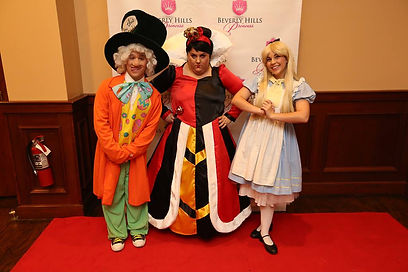 Alice in Wonderland birthday party characters