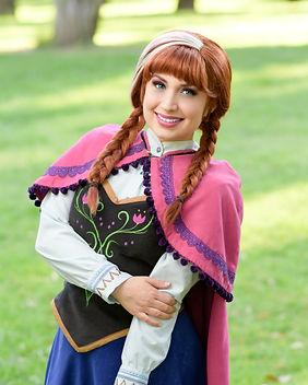 Ice Princess Anna Frozen Disney Princess Party Character Performer