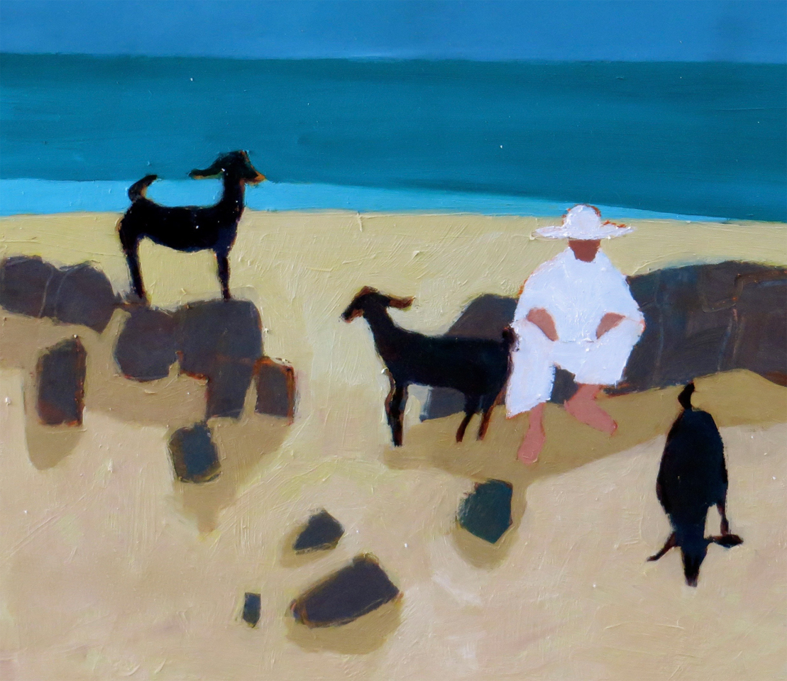 Goats on the Beach - SOLD
