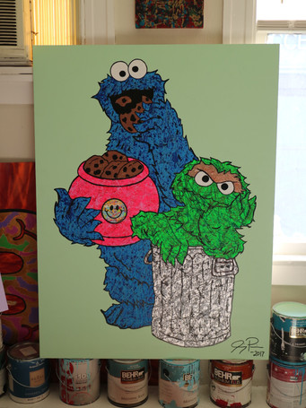 Cookie Monster & Grouch