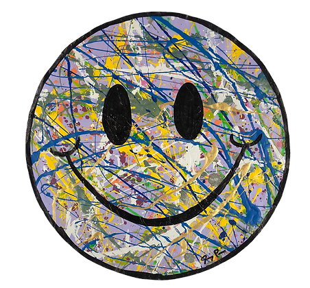 "10"" Paper Smiley by Jimmy Paintz"