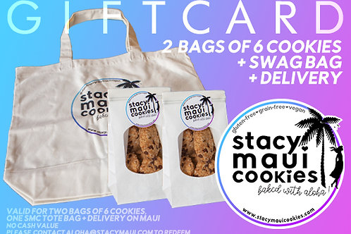 Local Gift Card: Two Bags of 6 Cookies + Swag Bag