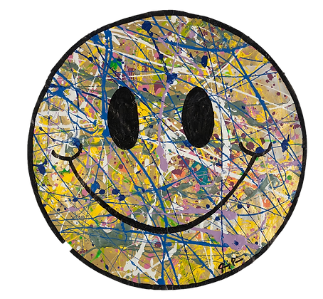 "15"" Paper Smiley by Jimmy Paintz"