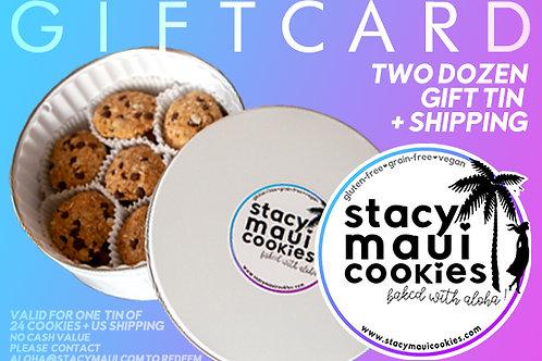 Gift Card: Two Dozen Gift Tin (24 Cookies)