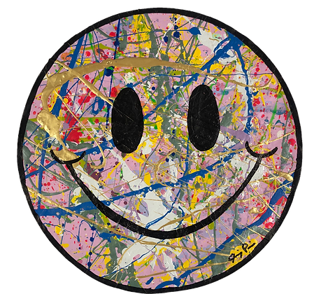"8"" Paper Smiley by Jimmy Paintz"