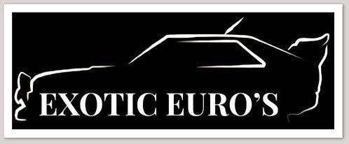 Exotic Euro's Sticker