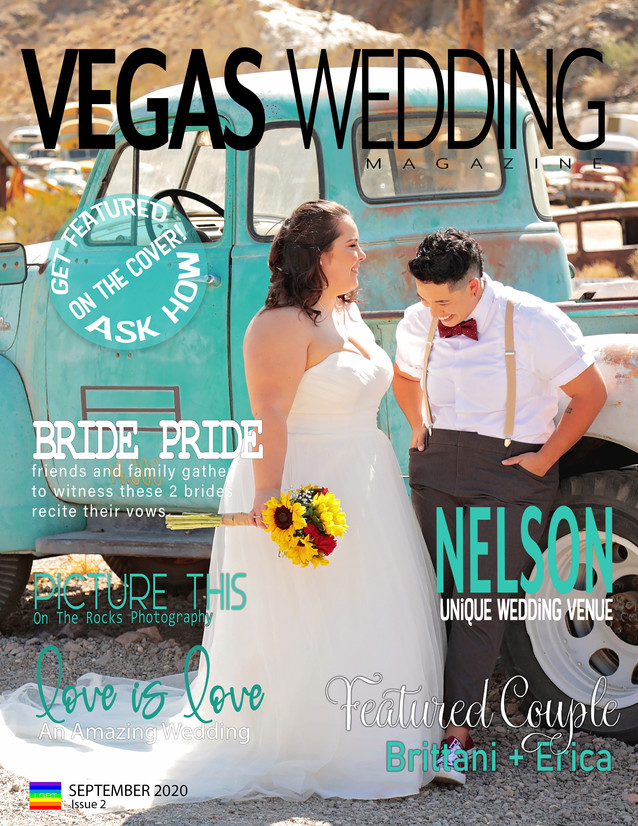 vegas wedding magazine Erica and Brittani