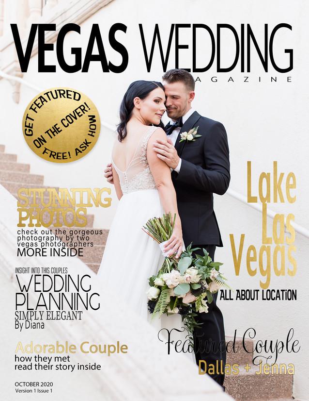Vegas Wedding Magazine Dallas and Jenna