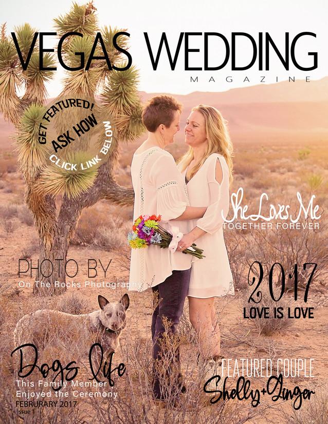vegas wedding magazine Shelly and Ginger