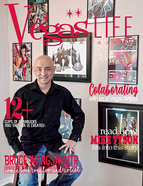 cover with Bruce Wag Comic Vegas LIFE ma