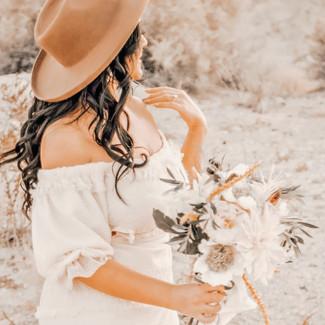 natural tones hand tied round medium bridal bouquet