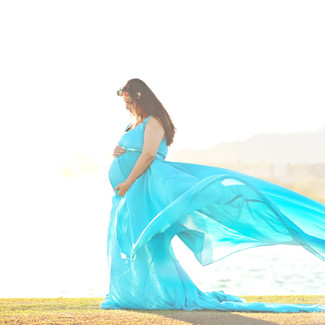 maternity or photoshoot 2-piece skirt and train