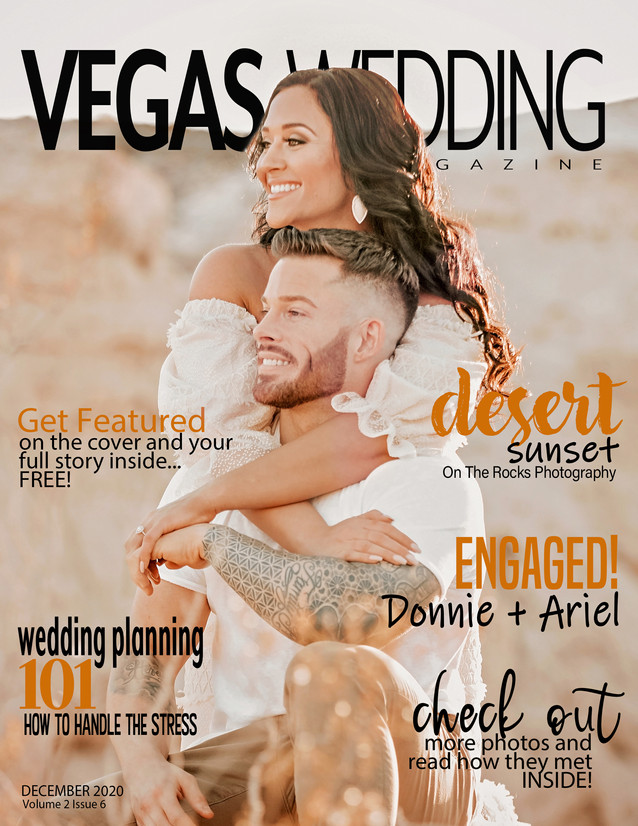 Vegas Wedding Magazine Donnie and Ariel
