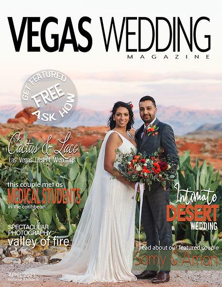 Cactus and Lace Vegas Wedding magazine
