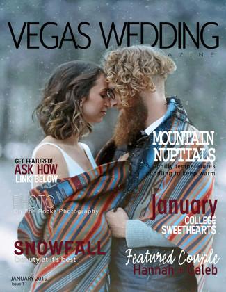 vegas wedding magazine Hannah and Caleb