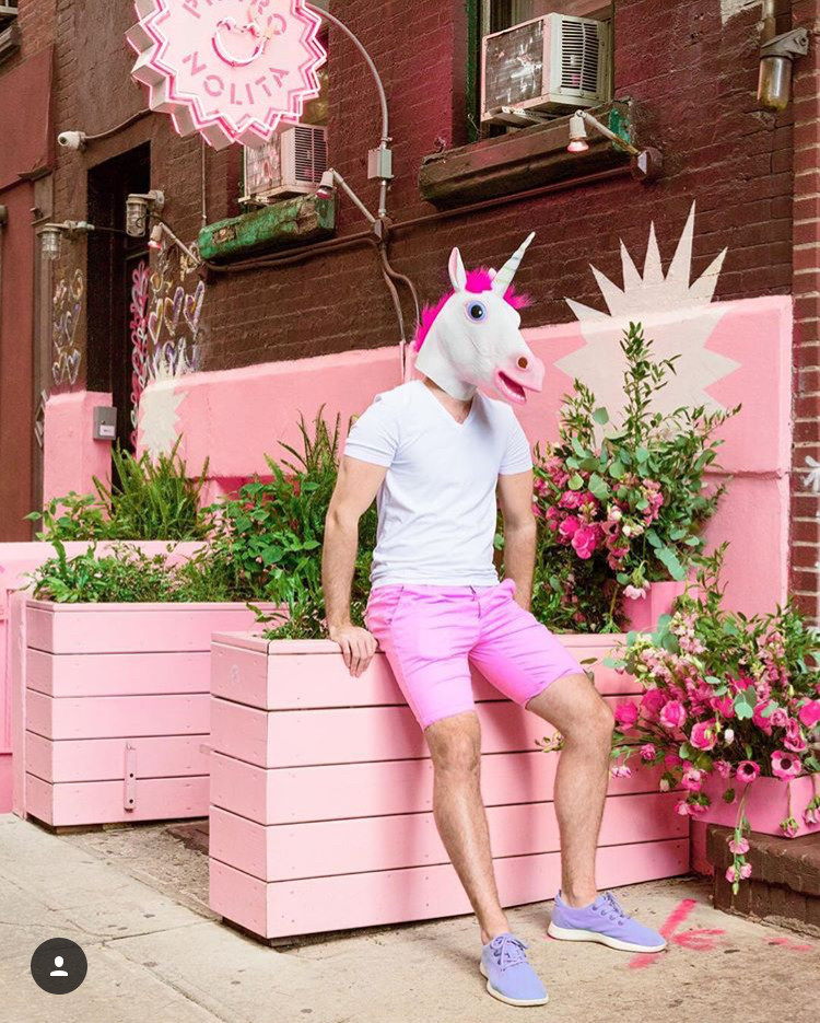 Instagram @mattcrump; pink and unicorn