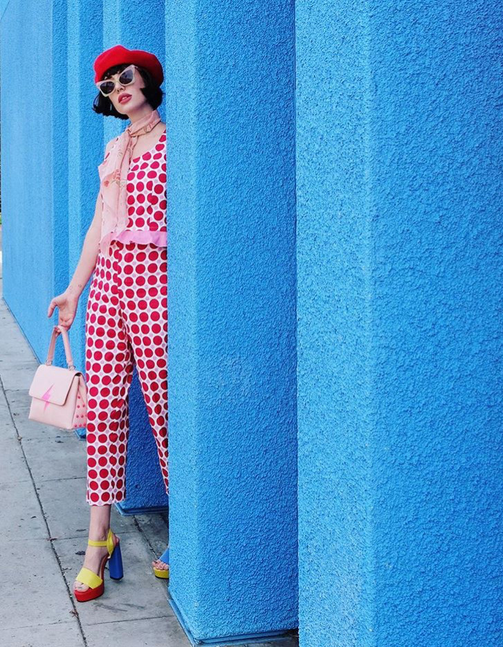 Instagram @afashionnerd; polka dot patterns