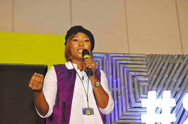 Rhoda Ebun moderating the session