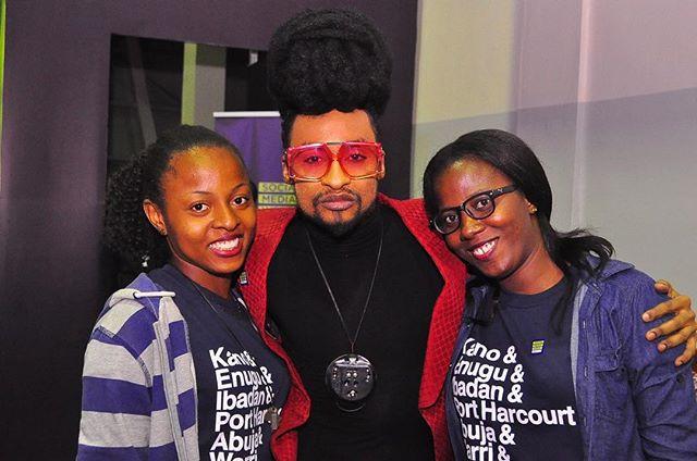 Denrele Edun with the Social Media Week Team