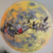 collage, pastel, graphite, drawing