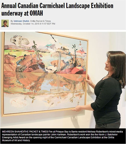 Melissa Robertson art, Award winning art