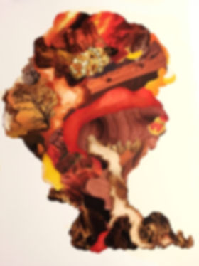 Melissa Robertson art, cloud collage