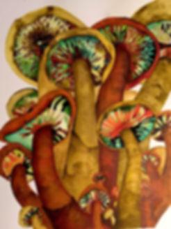 Melissa Robertson art, mushroom art, psychadelic art