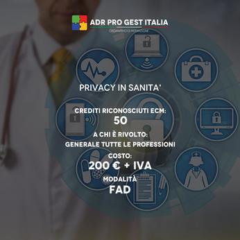 PRIVACY IN SANITA'