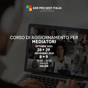 CORSO DI AGGIORNAMENTO PER MEDIATORI CIVILI E COMMERCIALI (18 ORE)