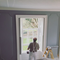 Final coating sash windows