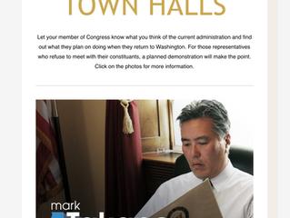 TOWN HALLS SHOUT OUT